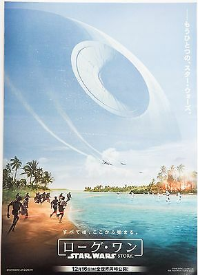 Star Wars Rogue One v. 2 Sci-Fi Japanese Mini movie Poster Chirashi from Japan