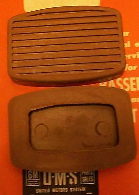 Buick Olds Pontiac Clutch And Brake Pedal Pads 1936 To 1954 + Parts List