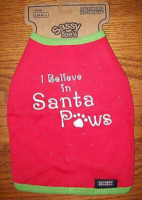Outward Hound i Believe In Santa Red Tshirt Size Xs Dog Clothes