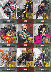 MARVEL BEGINNINGS SERIES 1 2011 UPPER DECK COMPLETE BASE CARD SET OF 180
