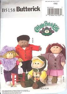 OOP 16-20in Cabbage Patch Kid clothes cap PATTERN Butterick 5158 CPK poncho vest