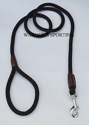 "WARNER BRAIDED NYLON ROPE SNAP LEAD DOG LEASH BLACK 1/2"" X 6 ft. on Rummage"