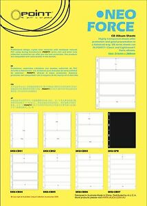 Stamp Album Stock Pages.10 sheets. 4 Strips per page. Double sided 195x62mm