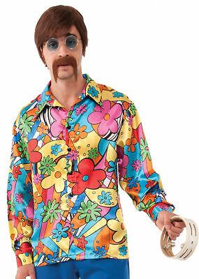 Hippie Groovy Go-Go Shirt Chemise Costume Halloween Adult 60s 70s Shirt Standard