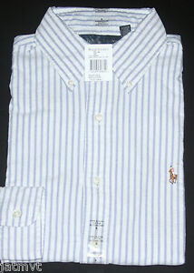 NEW POLO RALPH LAUREN MEN'S LONG SLEEVE OXFORD BUTTON DOWN CUSTOM FIT SHIRT