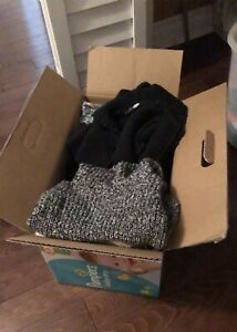 Box of baby girl clothing
