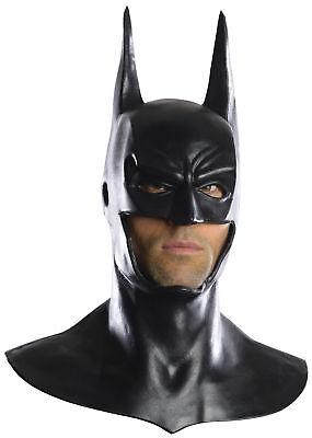 Batman Full Costume (Batman Mask Cowl Adult Mens Full Overhead Deluxe Mask Dark Knight Rises)