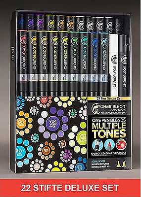 Chameleon 22er Stifte-Set Deluxe Marker manga Pen Feature Pack CHACT2201 (005)