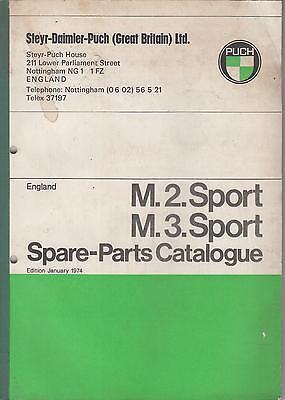 PUCH M2 SPORT & M3 SPORT ORIGINAL 1974 FACTORY SPARE PARTS CATALOGUE