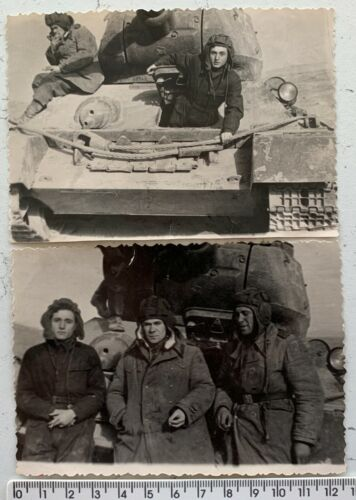 WWII T-34 Soviet Tank Tankmans Soldiers Red Army Panzer USSR Orig Vintage Photos