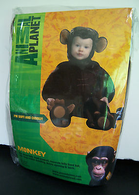 New Animal Planet Monkey Plush Toddler Costume 18-24 months