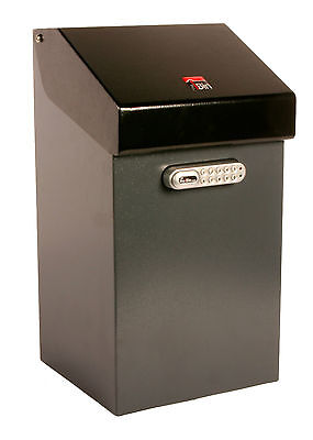 iBin Compact Parcel Delivery Box  /  iBin Postal Courier Box - Colour Grey-Black