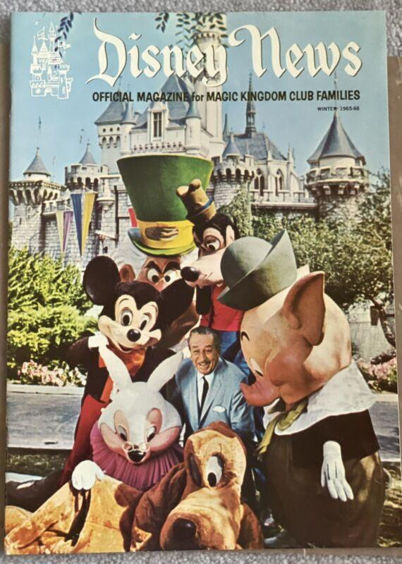 Vintage Disney News FIRST ISSUE Winter 1965-66 Volume 1 Number 1