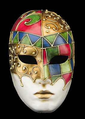 Mask Venice Face mosaic Prestige paper mash with gilding 2154 VG2