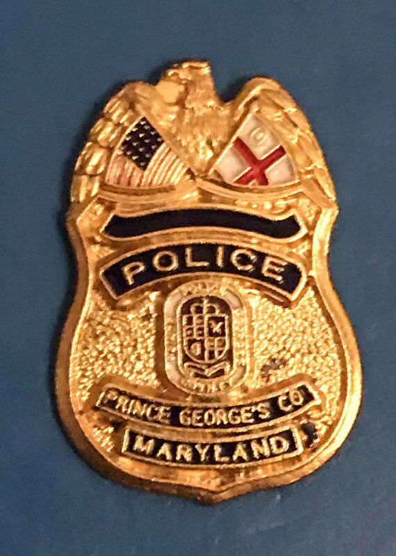 Prince George's County Police Maryland Silver-Tone Mini Badge Pin Back