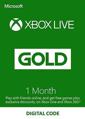 XBOX Live Gold 1 MONTH - Instant Delivery - Xbox One, Xbox 360