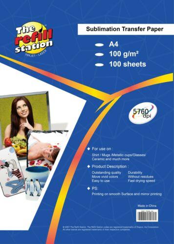Premium 95% transfer rate, Sublimation Heat Transfer Paper, 100 Sheets pk