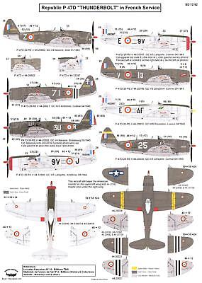 Berna Decals 1 72 Republic P 47D Thunderbolt In French Service