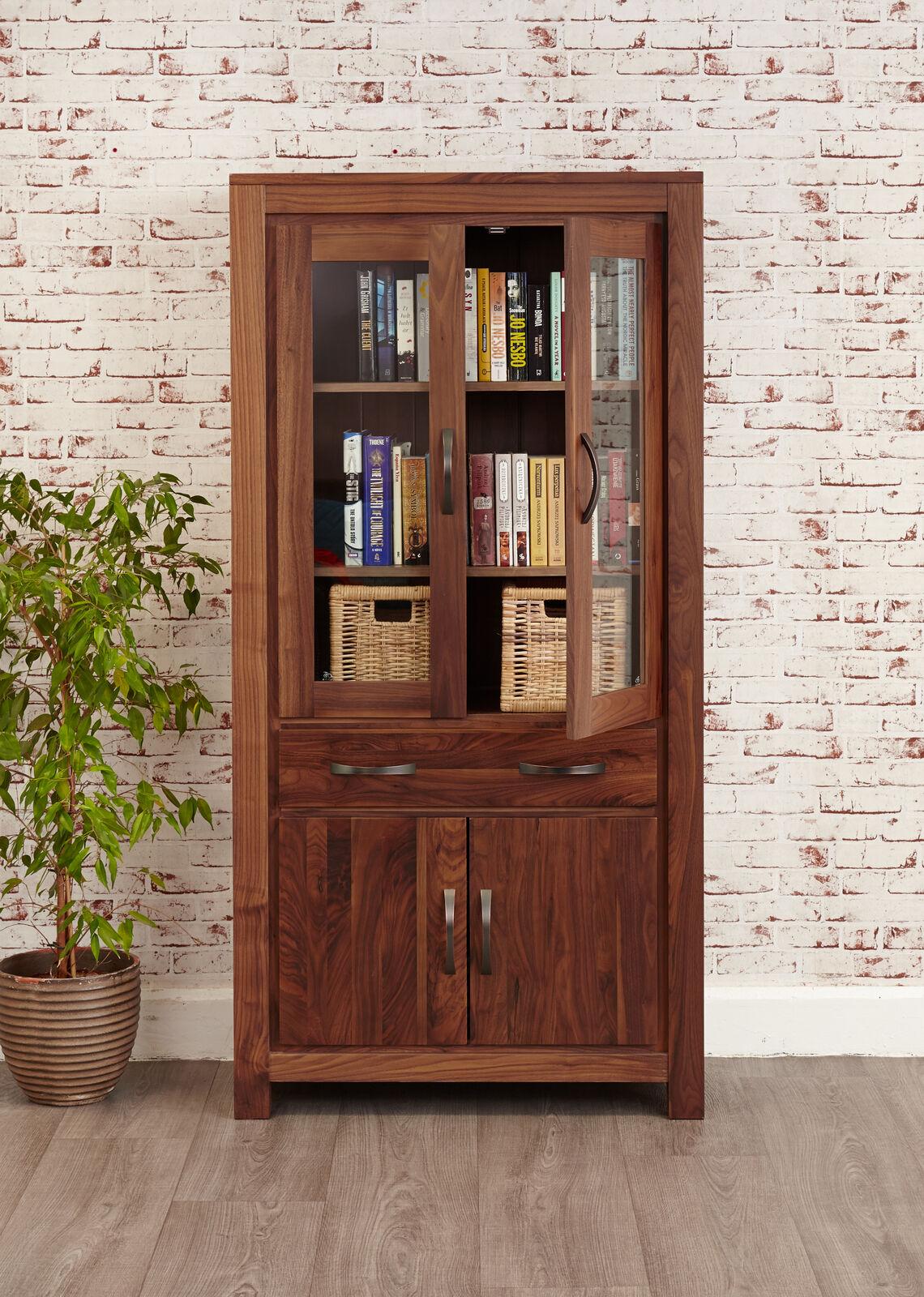 Dark Wood Display Cabinet Gl Door