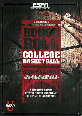Espn   Honor Roll   College Basketball Vol  1   New Sealed Dvd