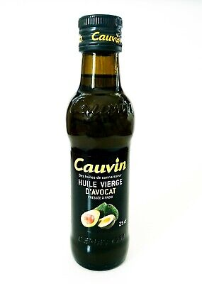 Lebensmittel Avocado-Öl (Avocadoöl Avocado Öl Cauvin Huile Noix Glas Flasche 250ml 100% Avocado-Fruchtöl)