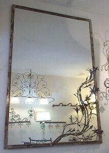 Cornice design per specchio o foto ferro battuto cm 100 x for Specchio in ferro battuto