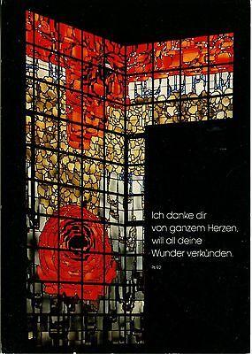 Alte Postkarte - Wallfahrtskirche Neviges - Rosenfenster