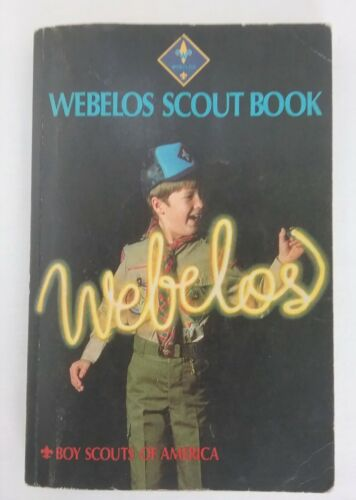 Vintage 1988 Webelos Scout Handbook Boy Scouts of America BSA with Parent Guide