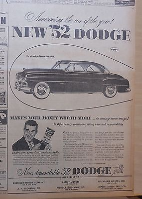 Dodge in romn este simplu s cumprai ebay pe zipy large 1951 newspaper ad for dodge 1952 model makes your money worth more publicscrutiny Choice Image