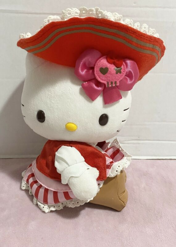 "Vintage 9"" Hello Kitty Plush Pirate Hello Kitty"