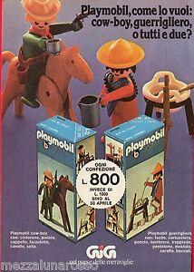 Pubblicita-Advertising-1976-GIG-PLAYMOBIL-cow-boy-e-guerrigliero