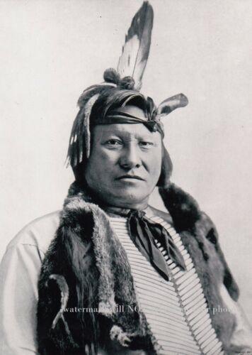 1893 Chief Rain in the Face PHOTO Lakota Sioux Battle of the Little Bighorn