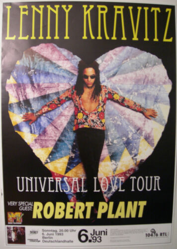LENNY KRAVITZ ROBERT PLANT CONCERT TOUR POSTER 1993 ARE YOU GONNA GO MY WAY