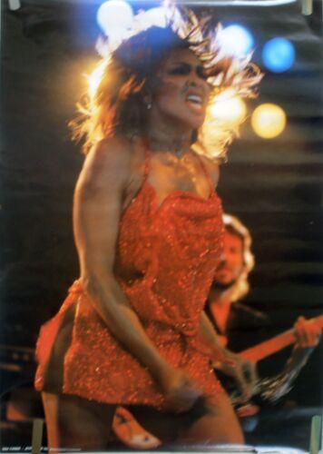 RARE TINA TURNER 1985 VINTAGE ORIGINAL MUSIC POSTER