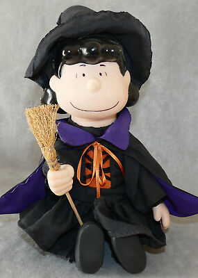 """PEANUTS Halloween LUCY Witch 12"""" Supposed to Dance & Musical USA SELLER"""