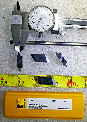 Kennametal Na4r6 Grade Kc5025 Right Hand Top Notch Threading Carbide Insert 4pcs