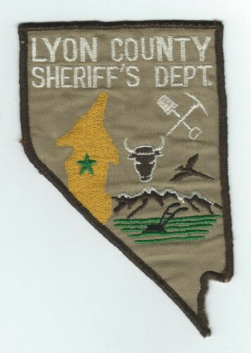 VINTAGE LYON COUNTY, NEVADA SHERIFF