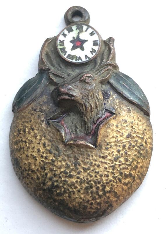 Antique BPOE Elks Metal Watch Fob (?) Made by Joseph Mayer Bros. Seattle