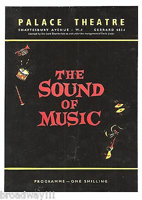 "Rodgers & Hammerstein ""SOUND OF MUSIC"" Constance Shacklock 1964 London Playbill"