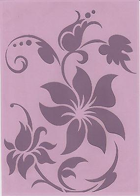 Wandschablonen Schablone Wandtattoo Ornament Blumen XL
