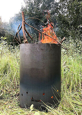 Volcann Garden Allotment Waste Incinerator Burner Bin 750 mm x 460 mm UK Steel
