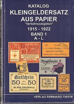 """1050: Kleingeldersatz aus Papier  """"Verkehrsausgaben"""" 1915 - 1922,  2 Bände"""