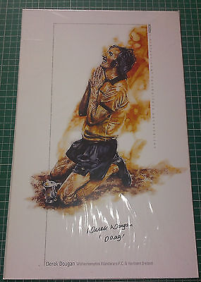 DEREK DOUGAN 1974 WOLVES LC FINAL WINNERS - SIGNED ASSOCIATION PRINT - LARGE