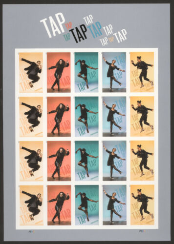US Tap Dance Imperf No Die Cut NDC Pane of 20 5609-13a MNH
