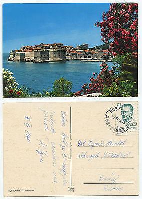21674 - Dubrovnik - Ansichtskarte, gelaufen 6.6.1966 - Schnapszahl-Datum
