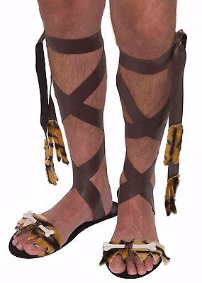 Stone Age Caveman Cavewoman SANDALS Costume Acces. Halloween Dress up 234