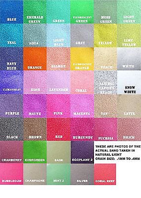 Colored Sand 1/2lb bag (~3/4) cup *125+ Colors* Unity Sand Ceremony, Wedding
