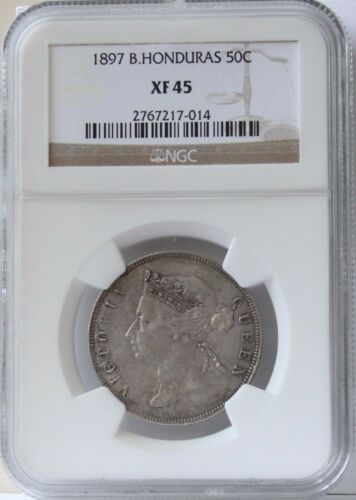 1895 British Honduras 50 Cent XF 45 NGC.  Nice and Original.  Quite scarce.