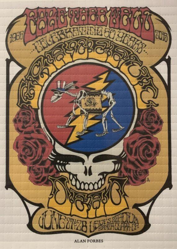BLOTTER ART - Grateful Dead - Fare Thee Well Concert Poster #1 - 600 Squares Ltd