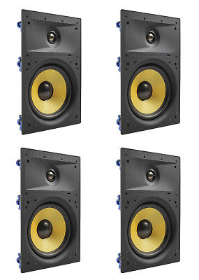 """4 Pack - TDX 8"""" 2-Way In Wall Home Theater Surround Sound Sp"""